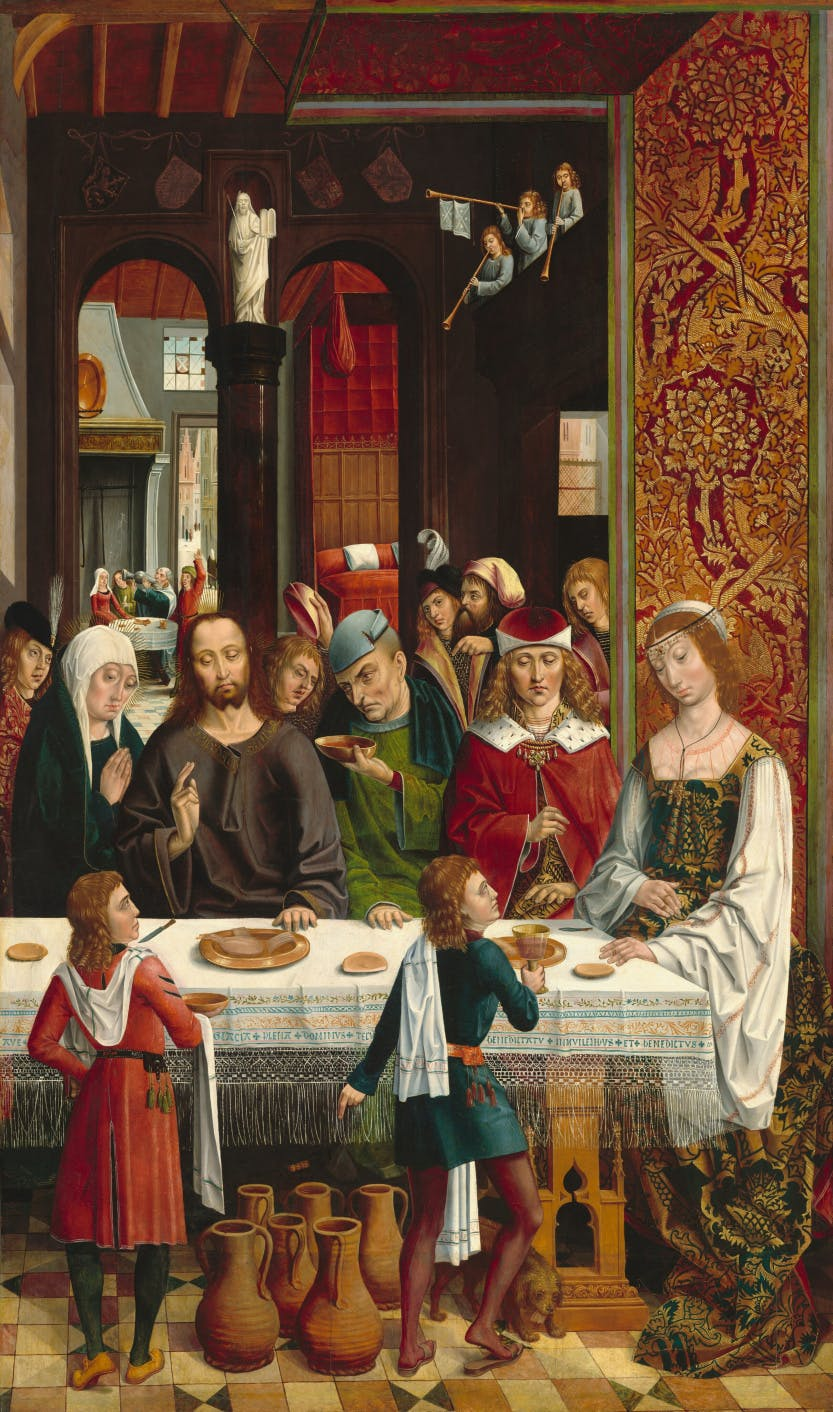 The Marriage at Cana, c. 1495/1497, oil on panel, National Gallery of Art, Master of the Catholic Kings (artist) Spanish, active c. 1485/1500
