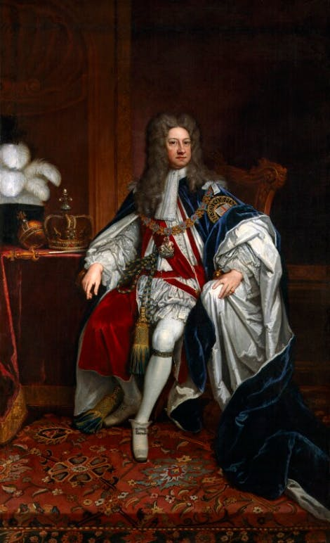 A portrait of King George I.