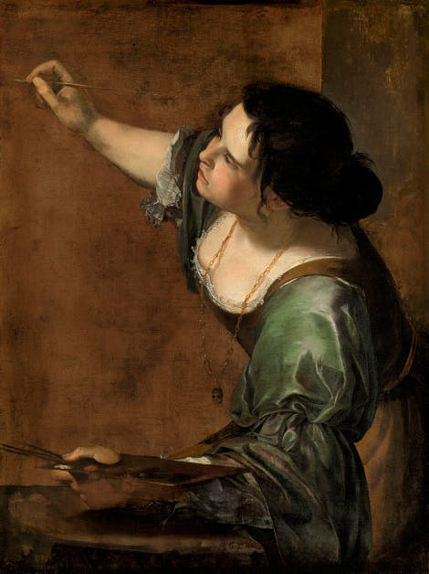 Artemisia Gentileschi: Self-Portrait as the Allegory of Painting (La Pittura), c. 1638-9 Oil on canvas Royal Collection RCIN405551