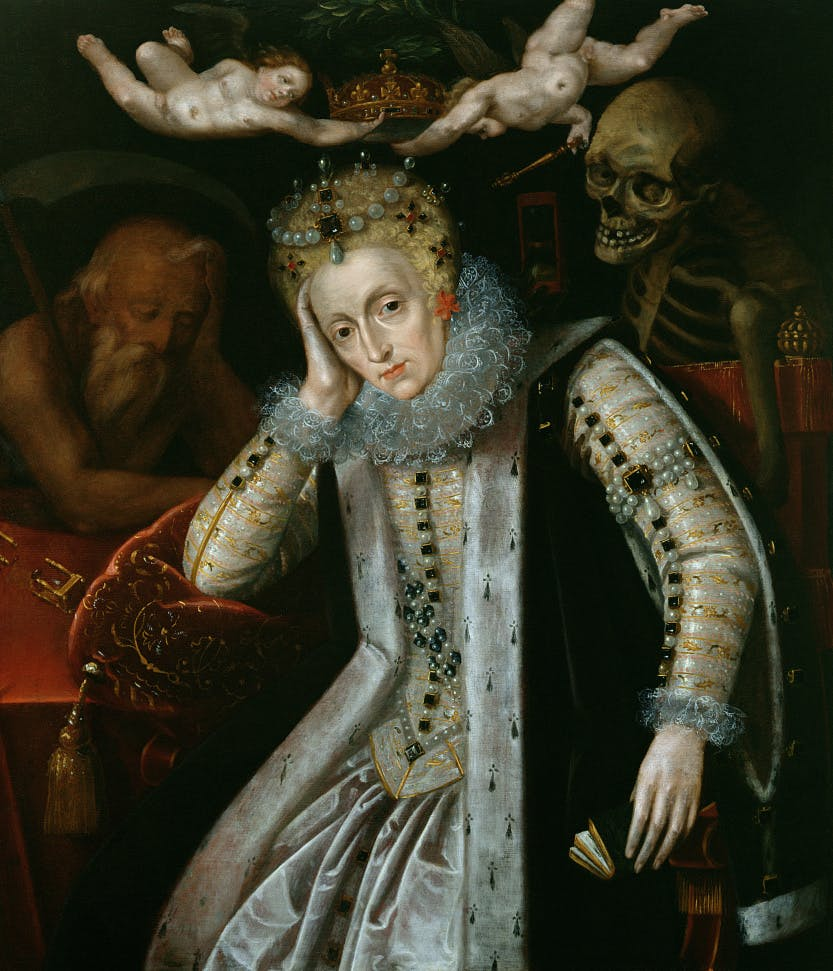 Painting of Queen Elizabeth I (1538-1603) in Old Age, c.1610