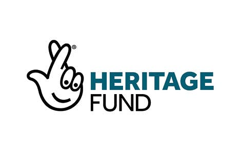 The new blue and black Heritage Lottery Fund logo for 2019, displayed on a white background