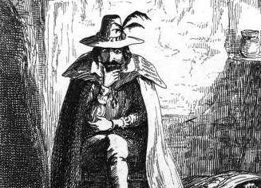 Illustration of Guy Fawkes by George Cruickshank