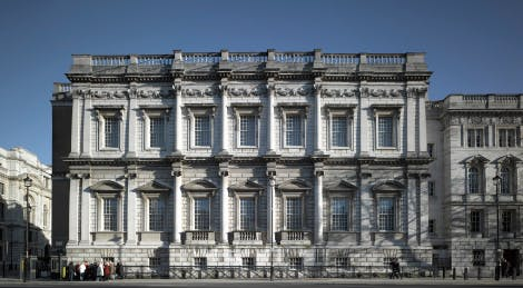 Banqueting House West Side of exterior captured in daylight