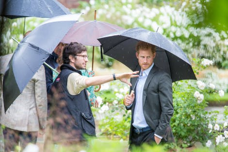 HRH Prince Harry is shown the White Garden at Kensington Palace