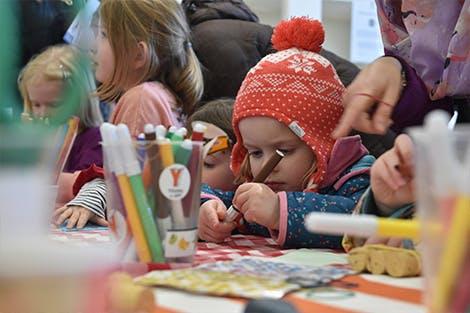 Photo of visitors enjoying Family activities at Hillsborough Castle