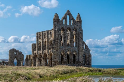 Photograph of Whitby Abbey ruins